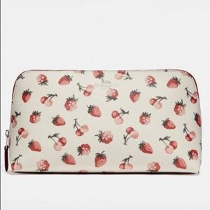 🆕 COACH Cosmetic Bag Fruit Print (Chalk Multi)